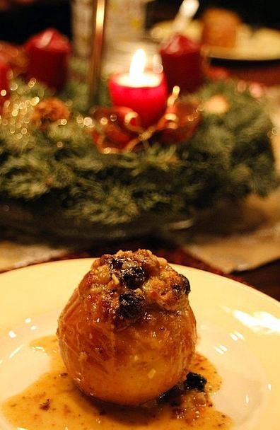 Baked Apple Drink Arrival Food Christmas Advent Ea