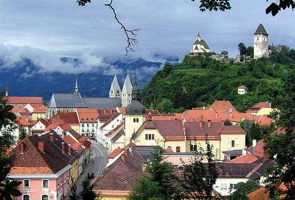 Friesach Buildings Urban Architecture Castle City