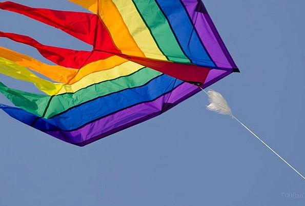 Dragons Sky Flying Kites Flutter Blue Azure Leash