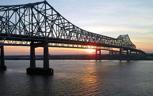 Mississippi Bond Sunrise Dawn Bridge New Orleans R