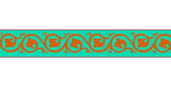 Border Edge Deco Frame Design Project Floral Ornam