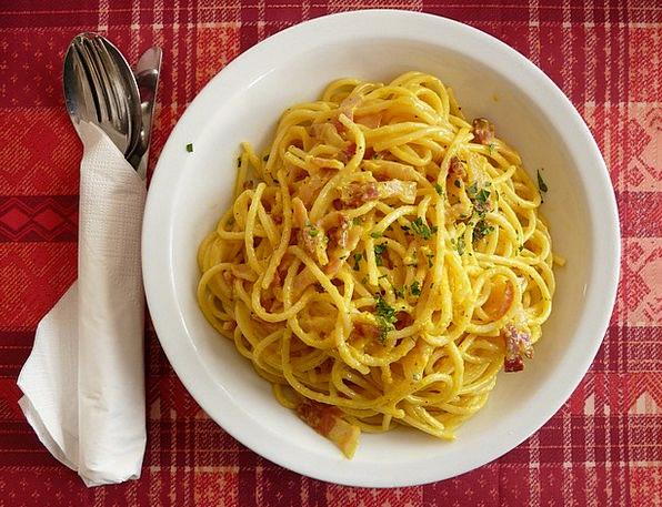 Spaghetti Drink Food Cabonara Spaghetti Carbonara