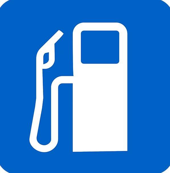 Gas Station Service station Blue Azure Petrol Stat