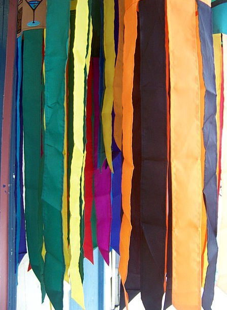 Windsock Streamers Rainbow Multicolored Flags Colo