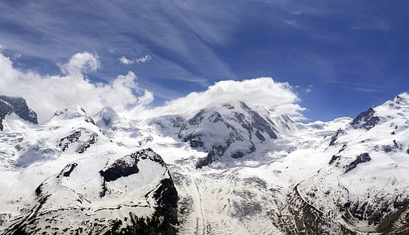 Monterosa Alps Glacier