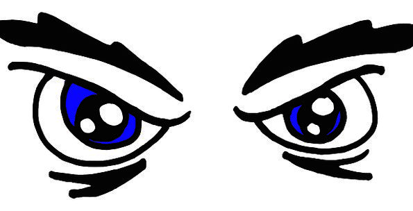 Angry Annoyed Eyes Judgments Face Frustrated Blue