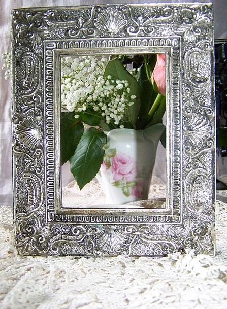 Picture Frame Gray Vibrating Vibrant Silver