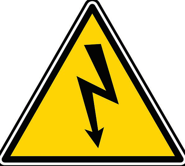 High Tall Power Sign Voltage Warning Symbol Hazardous