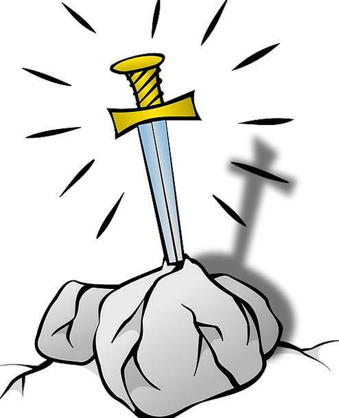 Excalibur Fable Sword Blade Legend England Stone R