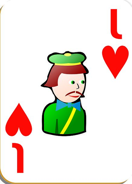Jack Knave Emotions Poker Hearts Playing Cards Fre