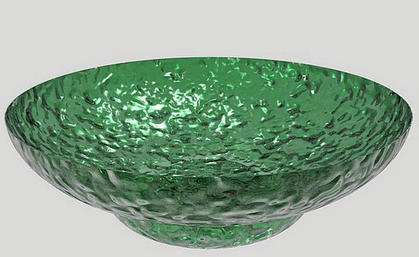 Dish Plate Ball Glass Cut-glass Bowl Green Lime