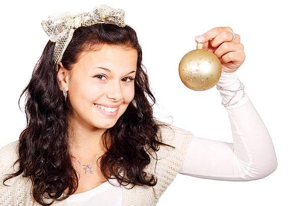 Ball Sphere Trinket Christmas Bauble White Decorat