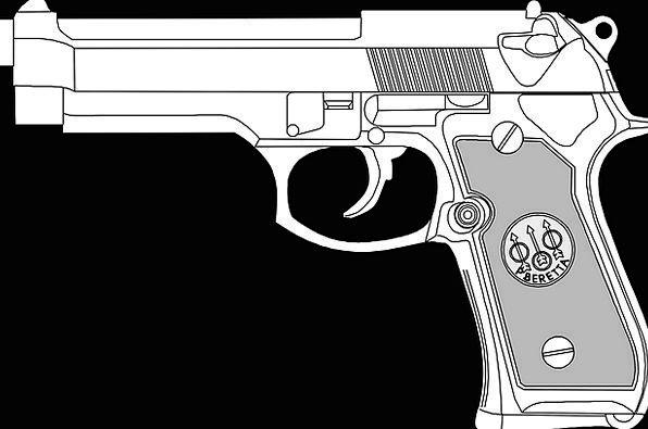 Pistol Firearm Dangerous Unsafe Gun Metal Metallic