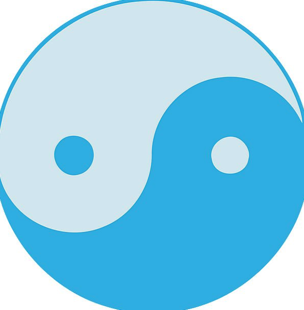 Yin Yang Azure Opposites Contraries Blue Shades Co