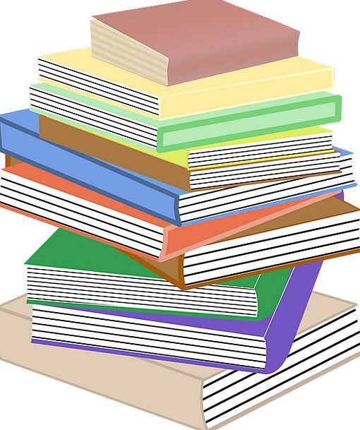 Books Records Loaded Pile Mound Stacked University