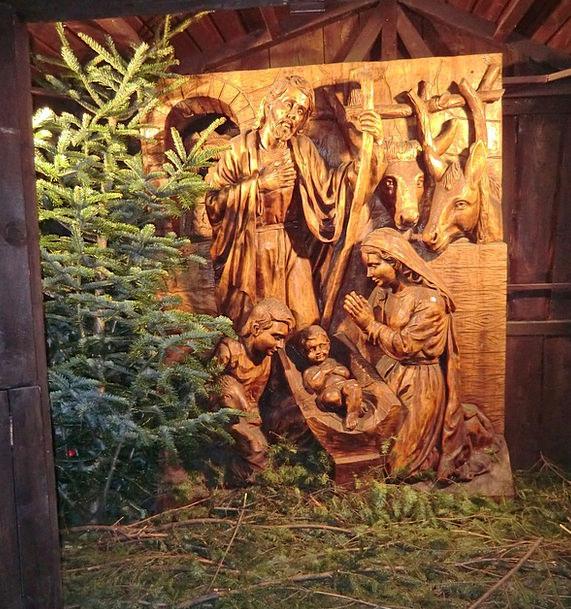 Christmas Crib Cheat December Church Nativity Scen