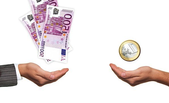 Hands Pointers Outfit Euro Suit Offer Coin Currenc