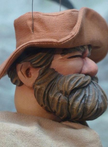 Puppet Marionette Gentleman Bearded Unshaven Man B