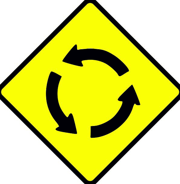 Roundabout Indirect Traffic Ring Transportation Tr