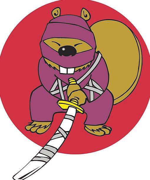 Ninja Work Animal Physical Beaver Humor Funniness