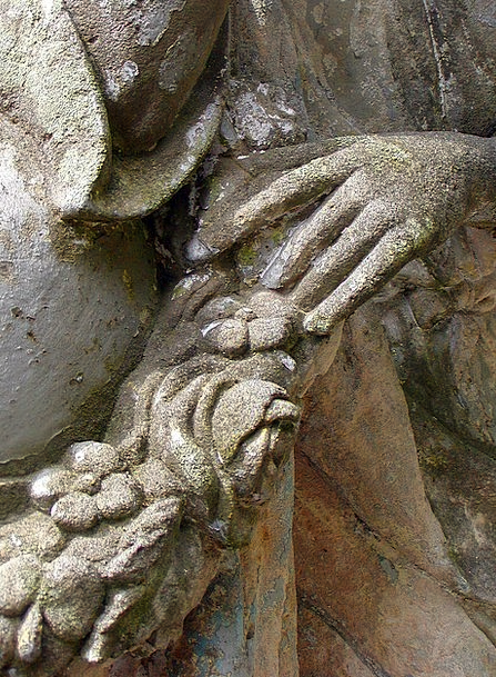 Detail Part Pointers Stone Pebble Hands Statue Fig