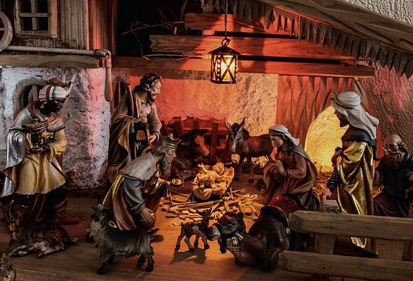 Christmas Crib Cheat Father Christmas Stall Stand