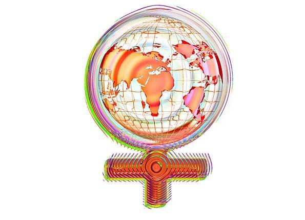 Female Feminine Sphere Earth Soil Globe Symbol Sign Woman