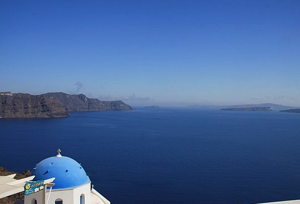 Sea Marine Caldera Santorini Greece View Opinion