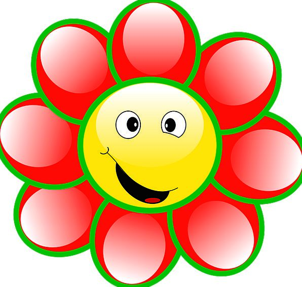 Smiley Smiling Floret Face Expression Flower Yello
