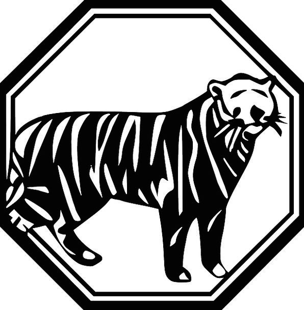 Tiger Physical Mammal Creature Animal Black And Wh