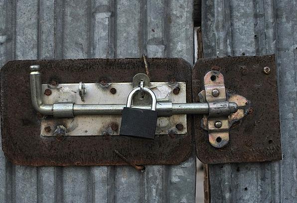 Old Ancient Padlock Metal Metallic Lock Aged Vinta