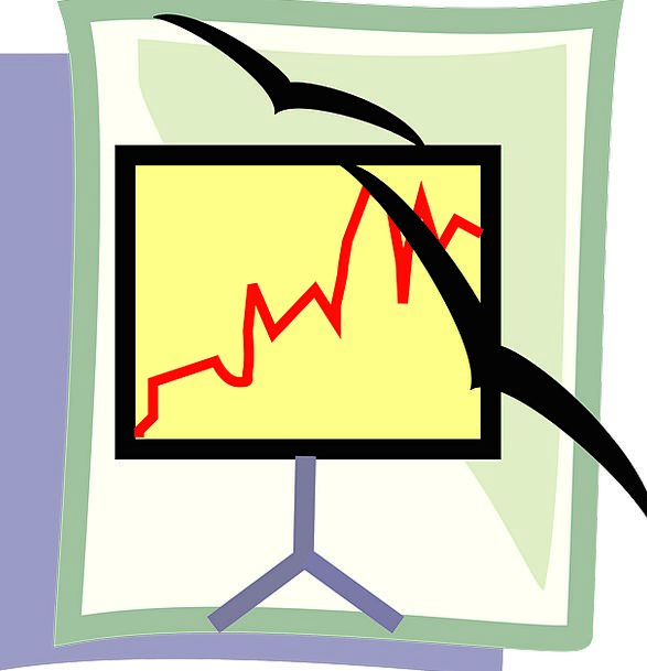 Line Graph Shade Seagulls Screen Presentation Perf
