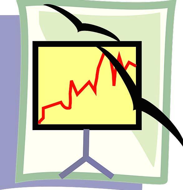 Line Graph Shade Seagulls Screen Presentation Perf