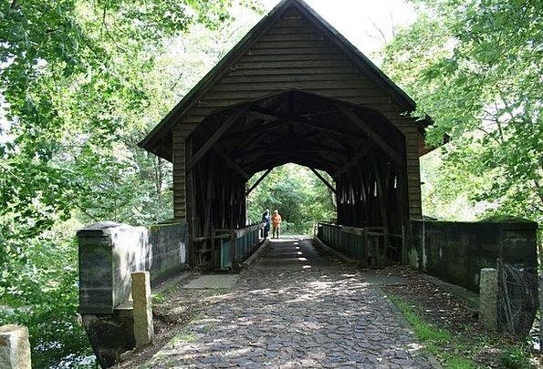 Wooden Bridge Historically Factually Müritz