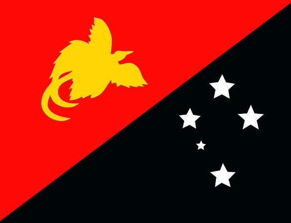 Flag Standard New Guinea Papua Golden Oceania Ensi