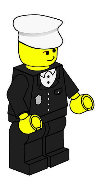 Policeman Cop Doll Toy Lego Hat Cap Police Man Fre