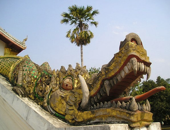 Laos Asia Southeast So Consequently Gold Crocodile