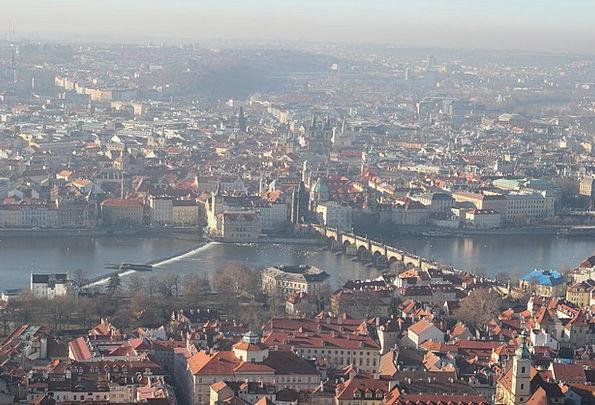 Prague View Vltava Panorama