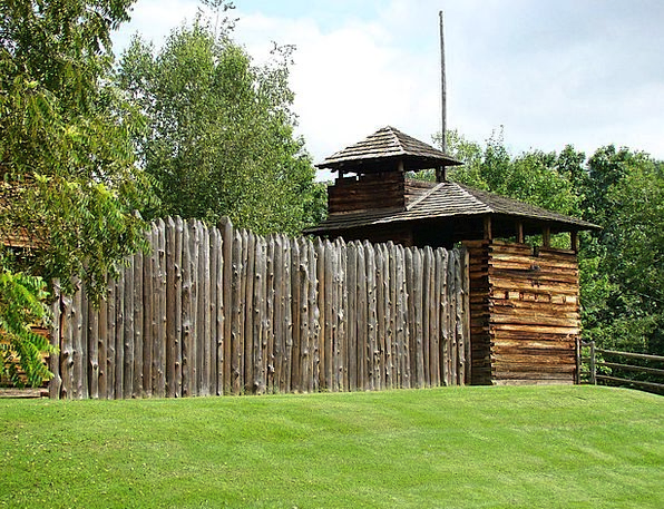 Fort Fortification Timber Fence Barrier Wood Tree