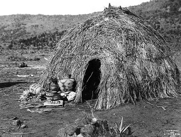 Wigwam Dwelling Apache Indians Residential Structu