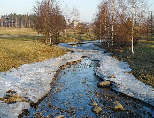 Creek Landscapes Freezing Nature Winter Season Icy
