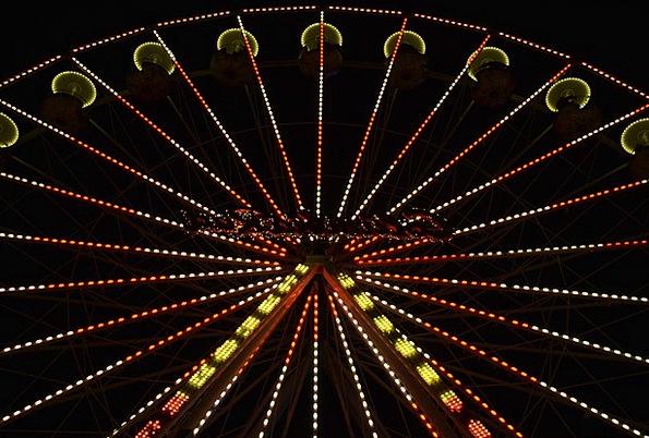 Ferris Wheel Illuminations Night Nightly Lights Fa