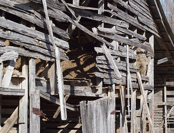 Barn Outbuilding Timber Rustic Wood Collapsed Vint