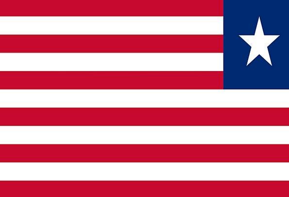 Liberia Standard National Flag Flag Nationality Na