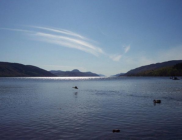 Loch Ness Freshwater Loch Inlet Lake Reflection Hi