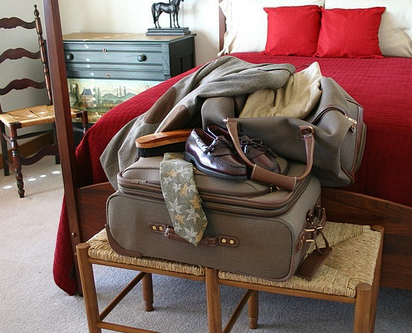 Luggage Vacation Valise Travel Shoes Suitcase Busi