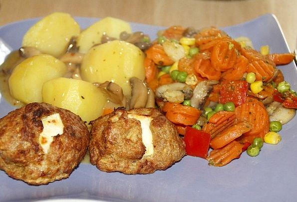 Meatballs Drink Food Potatoes Vegetables Cook Fill