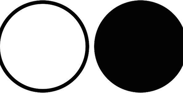Black Dark Snowy Gui White Circles Rings Free Vect