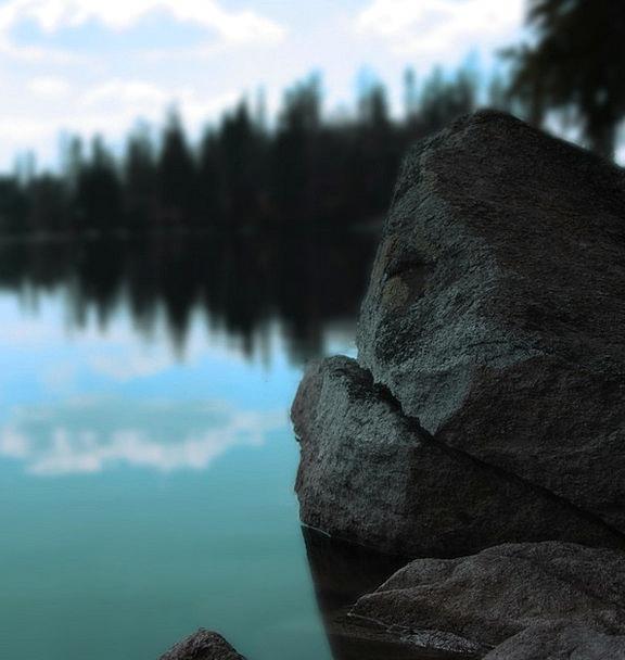 Lake Freshwater Landscapes Aquatic Nature Rock Pil