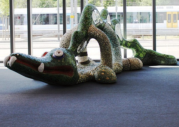 Crocodile Line Painting Niki De Saint Phall Art Mo